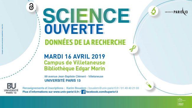 Science ouverte Paris 13