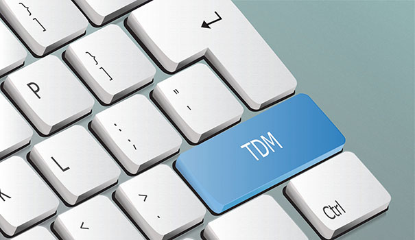 TDM written on the keyboard button
